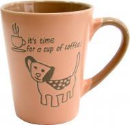 Чашка Coffee Dog Pink 320 мл M0420-8024A Milika