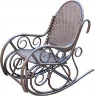 Крісло-гойдалка Indigo Прого 110x60x110 см коричневий
