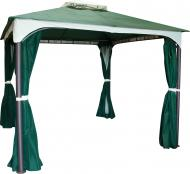 Павильон садовый Indigo с москитной сеткой зеленый с бежевым 3х3 м DU120