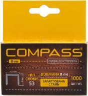 Скоби для ручного степлера COMPASS 8 мм тип 53 (А) 1000 шт. 20511601