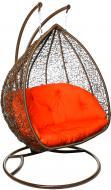 Кресло-кокон Indigo Луиза 2 коричневый с подушкой