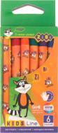 Набір олівців воскових 6 кольорів ZiBi