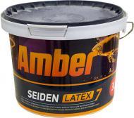 Краска латексная Amber SEIDEN LATEX 7 шелковистый мат белый 3л