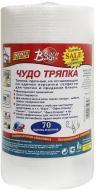 Серветки в рулоні універсальні Bagi Диво ганчірка Mini 24х20 см 70 шт./уп. білий