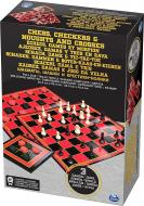 Набор настольных игор Spin Master Шахматы, шашки, крестики-нолики SM98377/6033146