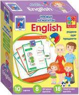 Игра настольная Vladi Toys Английский на магнитах. Семья VT1502-17