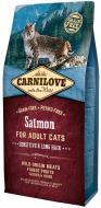 Корм Carnilove сухий для котів з з чутливим травленням Sensitive&Long Hair, лосось, 6 кг