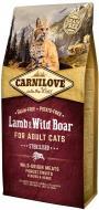 Корм Carnilove cухий для стерилізованих котів Cat Lamb & Wild Boar Sterilised 6 кг ягня та кабан