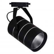 Трековий прожектор LightMaster LLT 201 LED COB 10 Вт 2700 К чорний