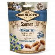 Ласощі Carnilove для собак Crunchy Snack, лосось та чорниця, 200 г