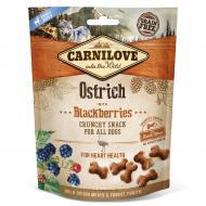 Ласощі Carnilove для собак Crunchy Snack, страус та ожина, 200 г