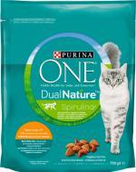 Корм ONE сухий для кішок DualNature Sterilized, яловичина, 750г