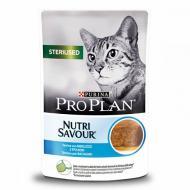 Консерва Pro Plan для стерилізованих котів Sterilised, мус з тріски, пауч, 85г