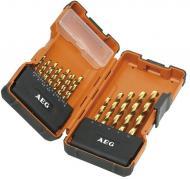 Набор сверл по металлу AEG Powerset HSS-G TIN DIN338 19 шт. 4932352245