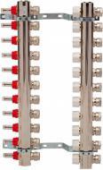 Колекторна група Luxor з витратомірами та термоклапанами М30х1,5 11 виходів з євроконусом 16х2 Luxor