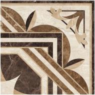 Плитка Golden Tile PETRARCA СHATEAU Rosette бежевий декор М91660 40x40