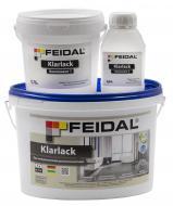 Лак поліуретановий двокомпонентний Klarlack Feidal мат прозорий 1 л