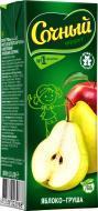Нектар Сочный фрукт Яблуко-груша 200 мл