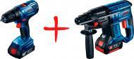 Набір акумуляторного інструменту Bosch Professional Перфоратор GBH 180-LI + Шуруповерт GSR 180-LI
