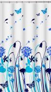 Шторка для ванної VANSTORE Wild Flowers blue 610-16