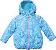 Вітрівка для дівчинки Модний Карапуз р.80 блакитний із малюнком 03-00877-1