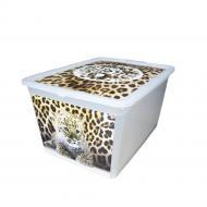 """Ящик для зберігання BranQ 7330.3 X-BOX з малюнком """"тигр"""" 30 л"""