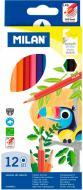 Набір олівців кольорові 12 шт. шестигранні Milan
