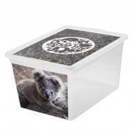 """Ящик для зберігання BranQ 7330.2 X-BOX з малюнком """"коала"""" 30 л"""