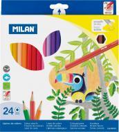 Набір олівців кольорові 24 шт. шестигранні Milan