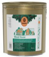 Лазурь Eskaro для деревянных фасадов Wood House полумат 0,9 л