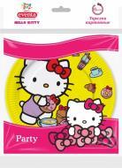 Тарілки паперові Eventa Hello Kitty кольорові 18 см 6 шт.