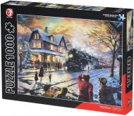 Пазл Same Toy Поїзд в зимовому місті 88008Ut