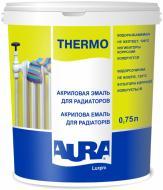 Эмаль Aura® акриловая радиаторная Luxpro Thermo белый полумат 0,75л