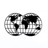 Панно 2 полушария Земли PN216 41x68 см