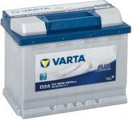 Акумулятор автомобільний Varta D24 60А 12 B 560408054 «+» праворуч