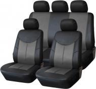 Комплект чохлів на сидіння Auto Assistance АА1829-2 9 шт. чорний/ сірий