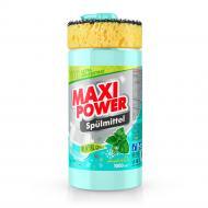 Засіб для ручного миття посуду Maxi Power Ментол з губкою 1л