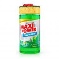 Бальзам для ручного миття посуду Maxi Power Лайм з губкою 1л