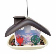 Годівниця для пташок Domek 21х15х16,5 см коричнева