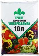 Торфосуміш універсальна Kronen для овочів і квіткових рослин 10 л