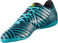 Футбольные бутсы Adidas Nemeziz IN S82472 р. 10 черно-синий с зеленым