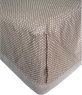 Простынь Горох 145x215 см коричневый Прованс