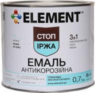 Емаль Element алкідна антикорозійна 3 в 1 Стоп іржа чорний глянець 0,7кг