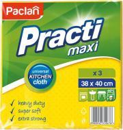 Набір серветок універсальні Paclan MAX вологопоглинаюча 38х40см см 3 шт./уп. жовтий сонячний