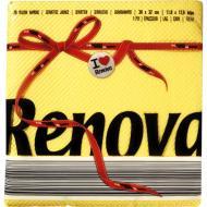 Серветки столові Renova Red Label 32x30 см жовтий 70 шт.