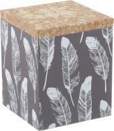 Скринька декорована Пір'я 12х12х15 см