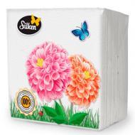 Серветки столові Silken Light 24х24 см колір в асортименті 100 шт.