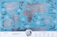 Скретч-карта мира Travel Map Marine World (англ.) 1DEA.me