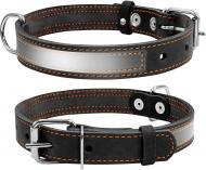Нашийник Collar зі світловідбиваючою стрічкою 2,5х38-50 см чорний