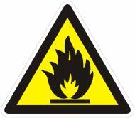 Наклейка Обережно! Легкозаймисті речовини 130 мм